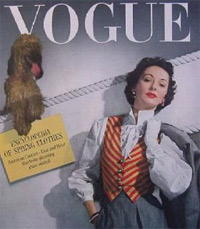 1942 Vogue cover of a patriotic woman