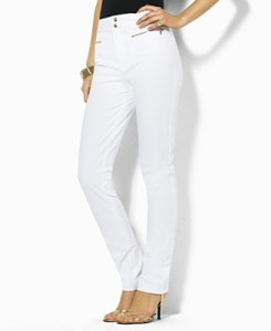 Lauren by Ralph Lauren Clifford Zip-Pocket Bi-Stretch Pants