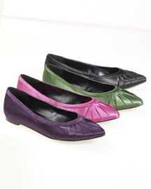 Newport News Pleated satin flats
