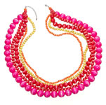 Top Shop Graduated bead rope necklace