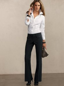 Victoria's Secret bootcut pant in seasonless stretch